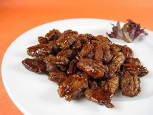 Balsamic Candied Pecans