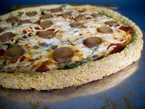 Vegan Cornmeal Spelt Pizza Crust