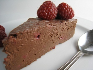 Vegan Flourless Chocolate Raspberry Cake