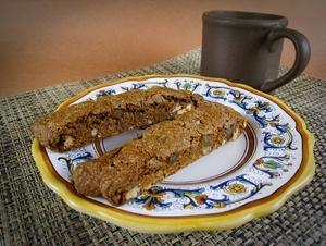 Vegan Gingerbread Pecan Biscotti