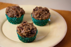 Hearty Vegan Breakfast Muffins or Bread | Fruit Sweetened