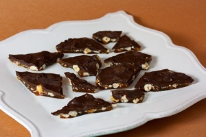Vegan Chocolate Hazelnut Bark