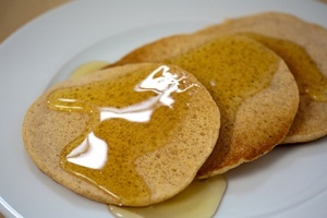 Vegan Lemon Cornmeal Pancakes