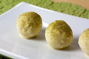 Vegan White Chocolate Matcha Truffles
