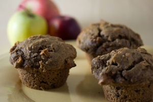 Vegan Apple Pecan Muffins or Bread