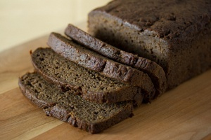 Fruit Sweetened Vegan Banana Bread - What do to with all those bananas in your freezer