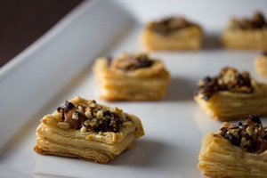 Vegan Kimchi Puff Pastry with Shiitake Mushrooms and Pine Nuts