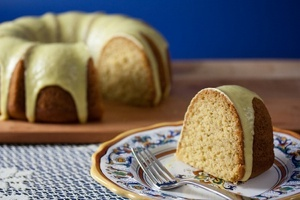Vegan Olive Oil Rosemary Semolina Cake