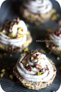 Raw Lemon Cupcakes with Pistachio Nuts