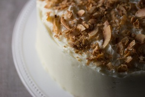 Vegan Toasted Coconut Cake